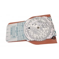 Jeppesen Vintage 3-Way Slide Course Protractor Graphic Computer Model CSG-2P