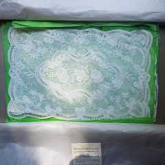 Beautiful Set of 10 Vintage Plastic White Lace Placemats - See to Believe