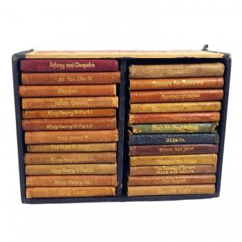 24 Knickerbocker Miniature Leather Bound Shakespeare Books Set in Box