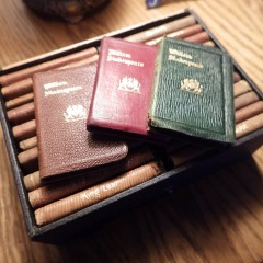 Set of 24 Knickerbocker Miniature Leather Bound Shakespeare Books in Box