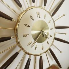 Vintage Mid-Century Modern Lux Atomic Starburst Wall Clock Robert Shaw