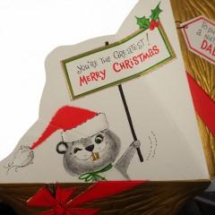 Dad, In a Nutshell You're the Greatest Unused Hallmark Vintage Christmas Card