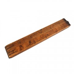 """Unbranded 24"""" Warranted Boxwood 4-Fold Vintage Wooden Folding Ruler"""