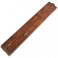 """Star Leader 24"""" 4-Fold Vintage Wooden Folding Ruler"""