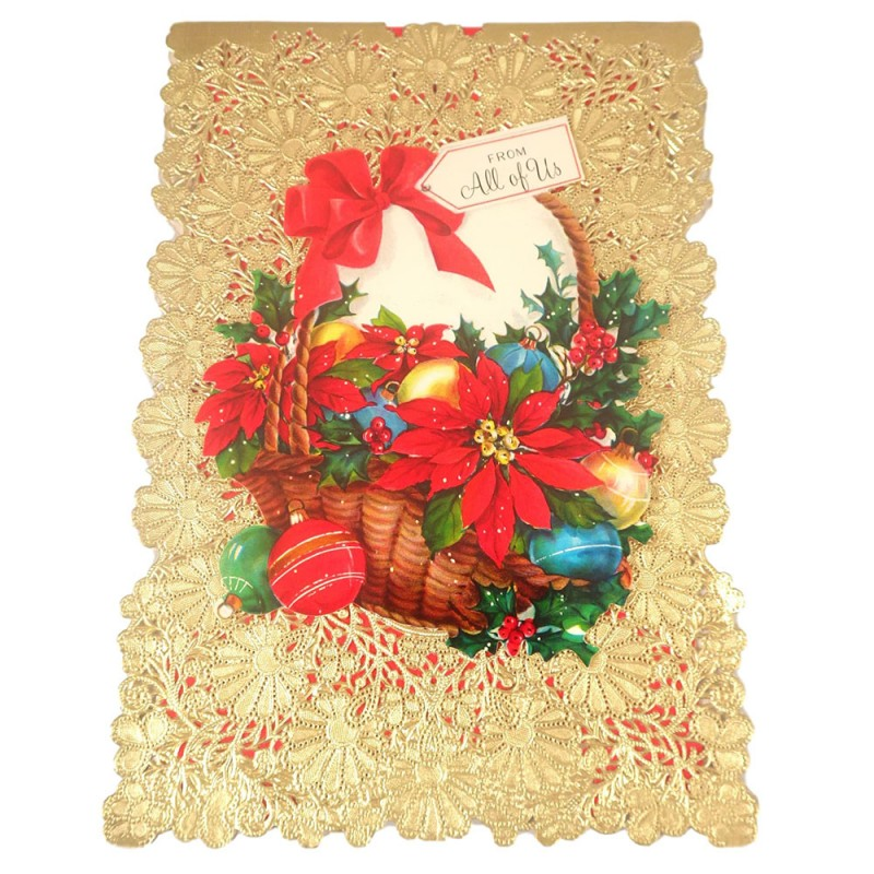 Vintage hallmark christmas card w die cut lace doily cover vintage hallmark christmas greeting card with die cut lace doily cover m4hsunfo Gallery