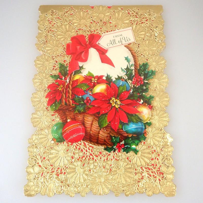 Vintage hallmark christmas card w die cut lace doily cover vintage hallmark christmas greeting card with die cut lace doily cover m4hsunfo
