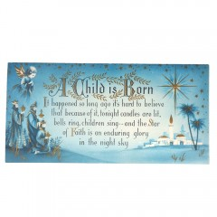 Christmas Sunshine Card Vintage Mid Century Three Wise Men Child is Born