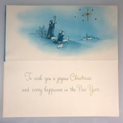 Vintage Christmas Card Three Wise Men Child is Born - Mid Century