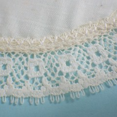 1980s Vintage Muslin Cotton Doily Small Flower Lace Trim - NOS Sealed Package