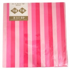 Pink Striped Tie Tie Vintage Gift Wrap Paper - 2 Sheets 20x29 - NOS