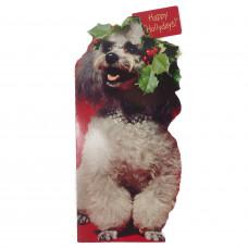 Large Hallmark Poodle Christmas Tales Greeting Card - Unused