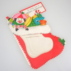 Hallmark 1950s Vintage Coin Money Christmas Stocking Card - Unused