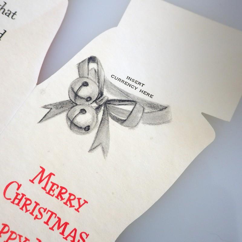 Flocked vintage christmas hallmark money holder greeting card red flocked christmas stocking vintage hallmark slim jims money holder greeting card unused m4hsunfo