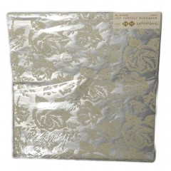 Silver Velvety Flocked Roses Tie Tie Vintage Gift Wrap Paper - 2 Sheets 20x26 - NOS