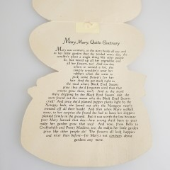 Land of Make Believe Mary Mary Quite Contrary Vintage Hallmark Doll Card #3