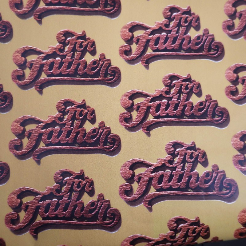 For father vintage wrapping paper for dad carved wood design for father vintage american greeting wrapping paper for dad carved wood design m4hsunfo