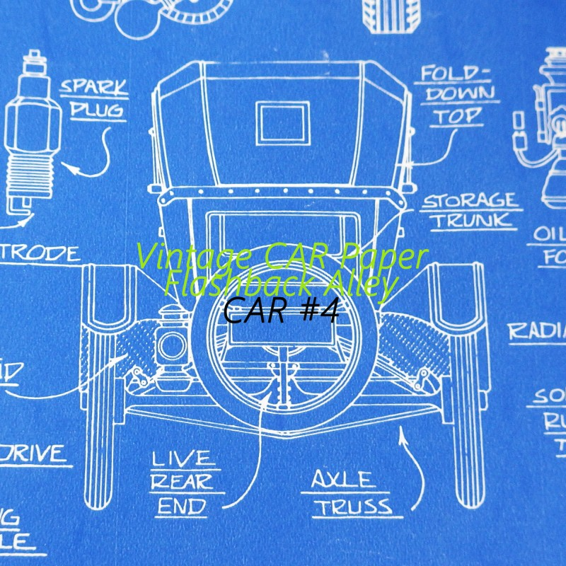 1950s vintage car blueprint gift wrapping paper 1950s vintage car blueprint gift wrapping paper for husband dad or man malvernweather Image collections