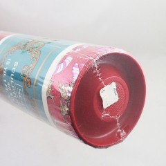 Vintage Sculptured Foil Candy Cane Christmas Wrapping Paper Roll, Sears Roebuck NOS