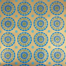 Flower Starburst Globe Vintage Christmas Wrapping Paper Roll 1970s NOS