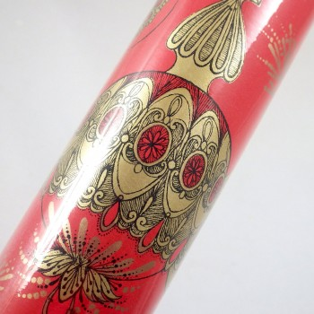 Vintage Golden Heirlooms Ornaments Christmas Wrapping Paper Roll