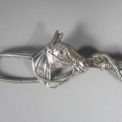 Vintage Beau Sterling Silver Horse Pin Brooch