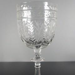 Vintage Libbey Rock Sharpe Frontenac Water Goblet Glass Stemware