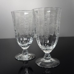 Pair of Fostoria Navarre Clear Ice Tea Glasses