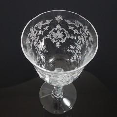 Vintage Fostoria Navarre Claret Wine Glass, Large 6-1/2 Inch Signed Crystal Elegant Glassware