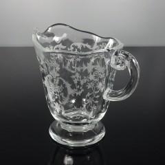 Fostoria Navarre Clear Sugar and Creamer Set, Vintage Elegant Crystal Glassware