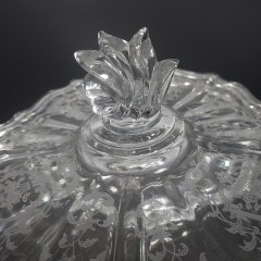 Divided Three Part Baroque Navarre Fostoria Candy Dish and Lid