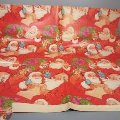 Vintage Good Kids Santa List Christmas Wrapping Paper Jumbo Sheet Partial