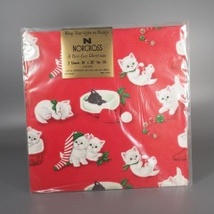 Norcross Vintage Cat Christmas Wrapping Paper - A Purr-Fect Christmas