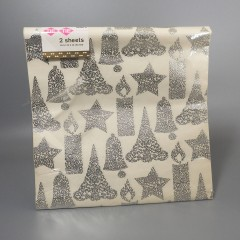 Tie Tie Textured Vintage Wrapping Paper - Silver Lace Design