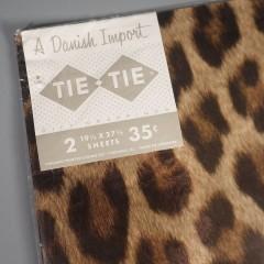 Vintage Tie Tie Leopard Spot Wrapping Paper - Danish Import