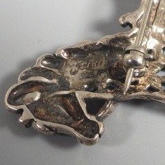 Vintage Jezlaine Sterling Silver Rocking Horse Pin Brooch