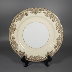 Noritake China Gastonia Round Dinner Plate with Gold Trim