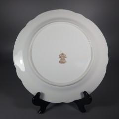 Noritake China Gastonia Round Dinner Plate with Gold Trim