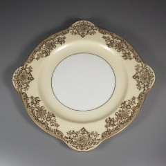 Square Noritake Gastonia Salad Plate with Gold Trim