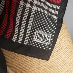 Vintage Houndstooth Plaid Authentic Sportswear Forenza Scarf - Made in Italy