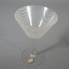 Harrachov Bohemian Czech Harrtil Merletto Martini Glass 1950s MCM