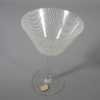 Harrachov Bohemian Czech Harrtil Merletto Martini Glass 1950s MCM