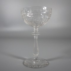 Libbey Rock Sharpe Frontenac Liquor Cocktail Cut Crystal Glass Stemware