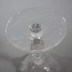 Libbey Rock Sharpe Frontenac Liquor Cocktail Cut Crystal Glass Stemware