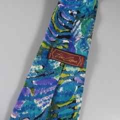Tino Cosma Night Moon Mens Vintage Silk Tie - Made In Italy