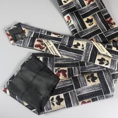 Ermenegildo Zegna Silk Vintage Mens Tie - Disegno Esclusivo Made In Italy