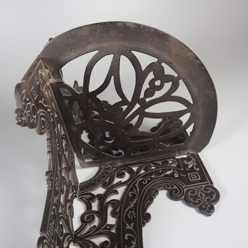 Antique Victorian Cast Iron Corner Parlor Stove Shelf Ornate Eastlake Style