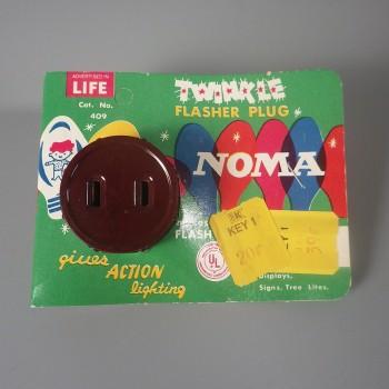 Vintage NOMA Twinkle Flasher Plug No 409 - Action Lighting