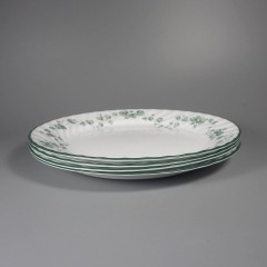 Corelle Callaway Ivy Dinner Plates - Scalloped Swirl Edge - Set of 4