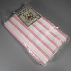 Vintage Springmaid Pillowcases Pink White Striped NOS Percale Cotton