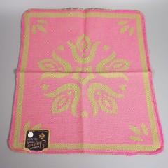 Vintage 1960s Pennsylvania Dutch Hand Towel Washcloth Set - Pink Green
